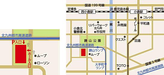 ホール駐車場地図